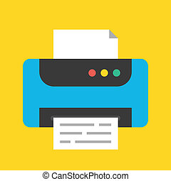 vector, impresora, icono