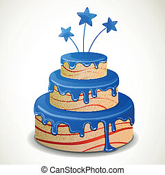 Vector Independence Day Cake