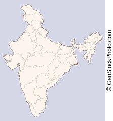 India contour map