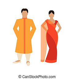 Vector Indian Couple