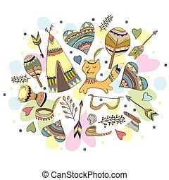 Vector Indian doodle illustration