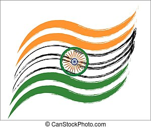 vector indian flag style wave design art