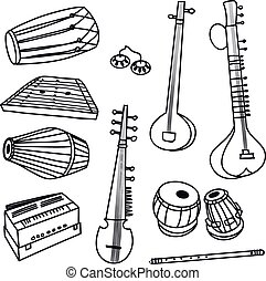 Vector indian instruments