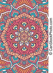 Vector indian Mandala background - Ornament beautiful card...