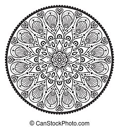 Vector indian Mandala - Ornament beautiful card with...