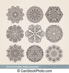 Vector Indian ornament, kaleidoscopic floral pattern,...