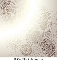 vector indian paisley design background
