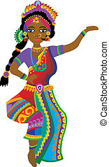 Vector Indian Woman - Stock Vector Illustration: Indian...