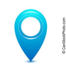 vector, indicador, ubicación, icono