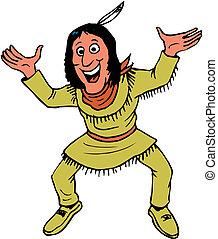 vector, indio americano