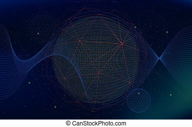 Vector infinite space background, Abstract futuristic hyperspace universe, sci-fi technologies