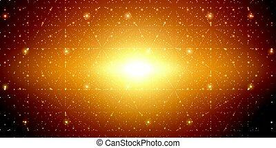 Vector infinite space background.