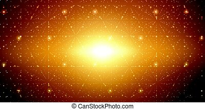 Vector infinite space background.