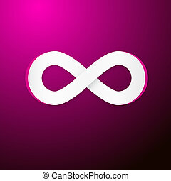 Vector Infinity Symbol on Pink Background