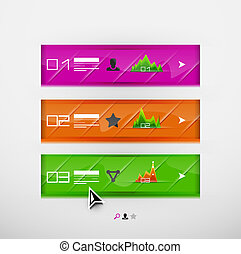Vector infographic banner design template