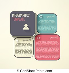 Vector infographic boards in modern flat design. Web page layout template