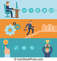 Vector infographic design elements and icons - career and...