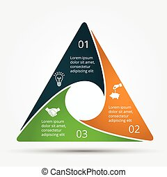 Vector infographic design template. Business concept with 3...