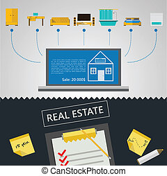 Vector infographic for sale of real estate
