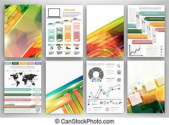 Vector infographic icons and abstract backgrounds