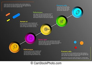 Vector infographic line with place for your text. Can be use for your presentation, business, work