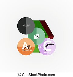 Vector infographic options banner, paper style design