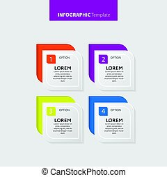 Vector Infographic report template made from lines and icons