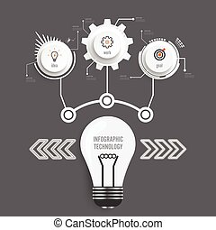 Vector infographic technology design template,integrated circles. Business concept with options. Vector illustration. Used for workflow layout, diagram, business step options, banner, web design.