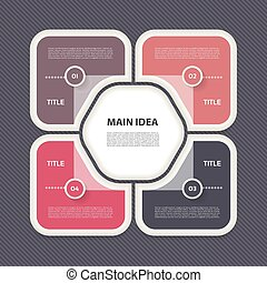 Vector infographic template for diagram, graph, presentation and chart. Business concept with 4 options, parts, steps or processes