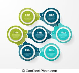 Vector infographic template for diagram, graph, presentation and chart. Business concept with 7 options, parts, steps or processes