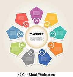 Vector infographic. Template for diagram, graph,...