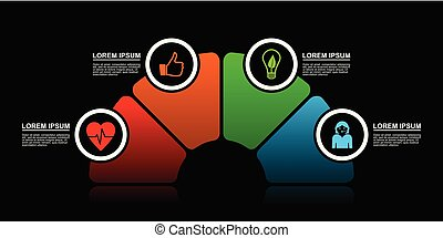 Vector infographic template for workflow, diagram, graph, presentation, chart, business concept with 4 options