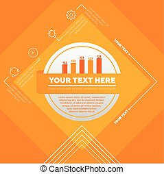 Vector Infographic template made from lines and icons