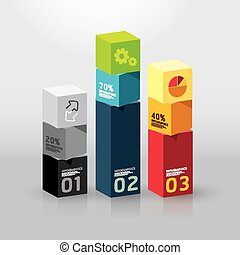 Vector infographic template Modern box Design Minimal style...