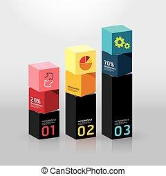 Vector infographic template Modern box Design Minimal style