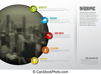 Infographic template with big photo