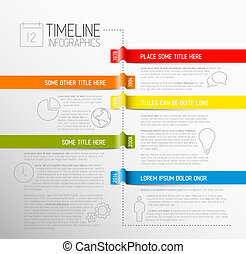 Infographic timeline report template - Vector Infographic ...