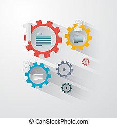 Vector Infographics - Cogs, Wheels