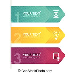 Vector infographics options banner 1 2 3