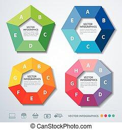 vector infographics set templates