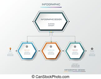 Vector infographics timeline design template