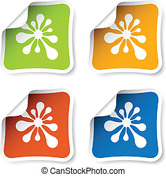 vector ink blot stickers