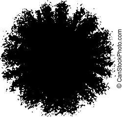 Vector Ink Blotch. Design Element.