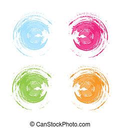 vector ink frames set