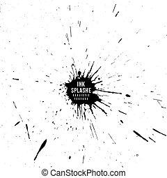vector ink paint splatter texture