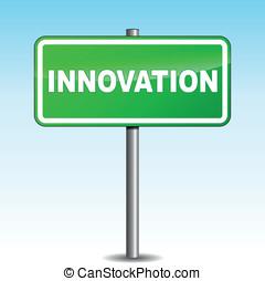 Vector innovation signpost
