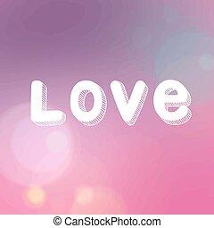Vector inscription love