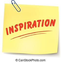 Vector inspiration message