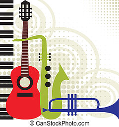vector, instrumentos de la música