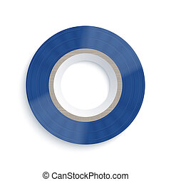 Vector insulating tape on white background. Eps10